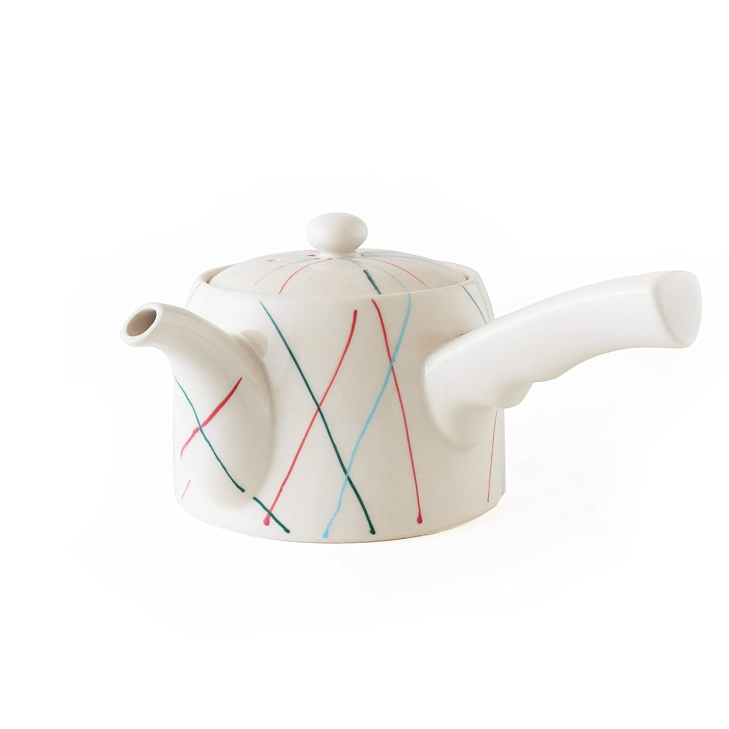 コイン句アプト波佐見焼 CtoC JAPAN スマート 茶こし付き 急須 ストライプ W18×D14.2×H9(cm) 430(cc)