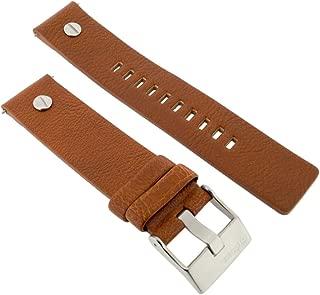 Diesel Original Bracelet de Rechange en Cuir DZ7261 Montre Noir 28 MM