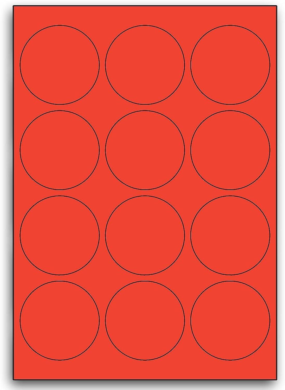 Multi Purpose rot Round Labels - 12 Labels Per Sheet - 100 Sheets 63mm Diameter B00BXE6344  | Spezielle Funktion