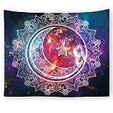 Brandless Luna y Sol Tapiz Colorido Abstracto Noche Tapiz Creativo Manta Tapiz para Dormitorio salón Dormitorio