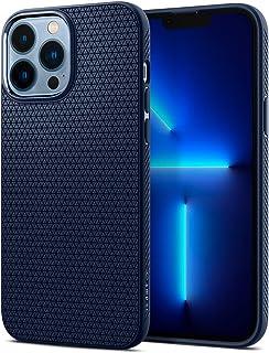 SPIGEN Liquid Air Case Designed for Apple iPhone 13 Pro Max (2021)[6.7-inch] Soft TPU Armor Slim Cover - Navy Blue