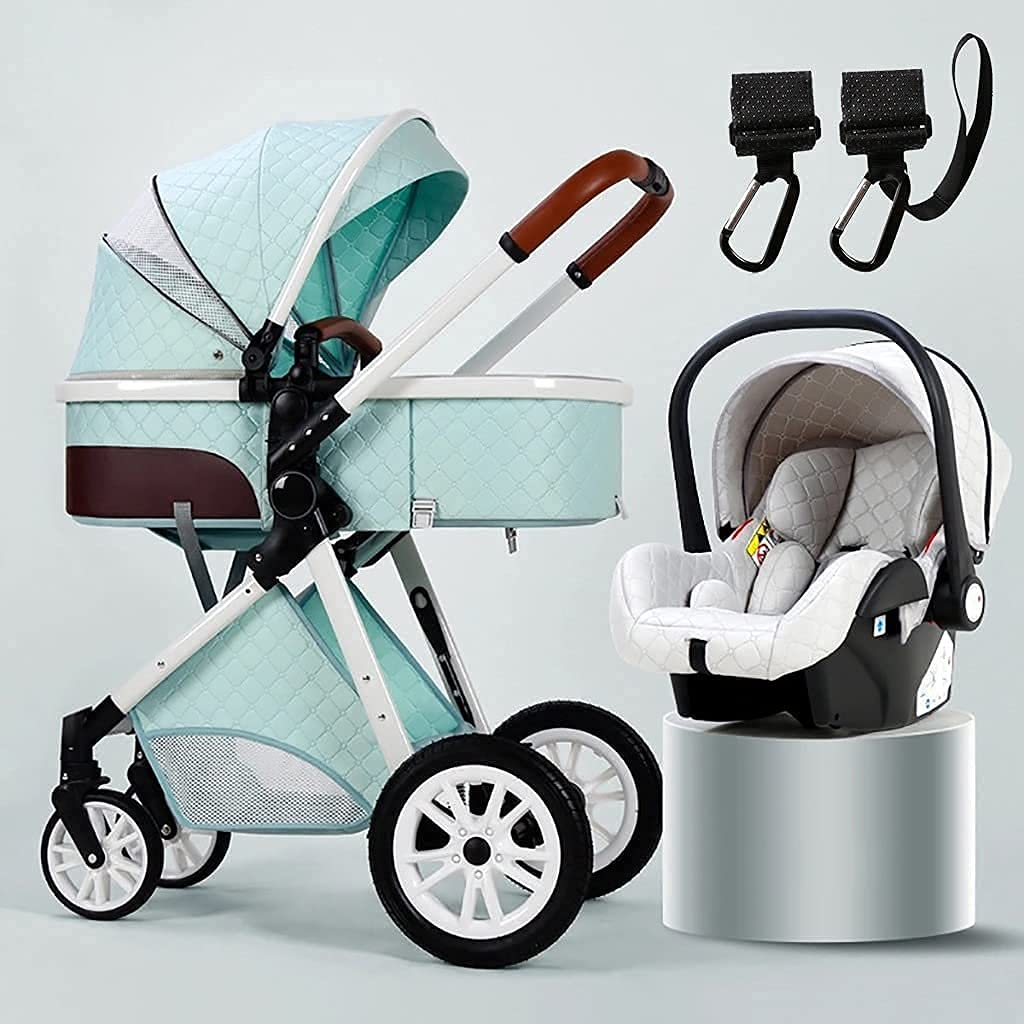 TSHAOSHUNHT 3 in 1 Stroller Carriage Gorgeous with Easy Oversized New color Canopy