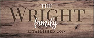 """GiftsForYouNow Rustic Family Established Personalized Canvas, 8"""" x 20"""""""