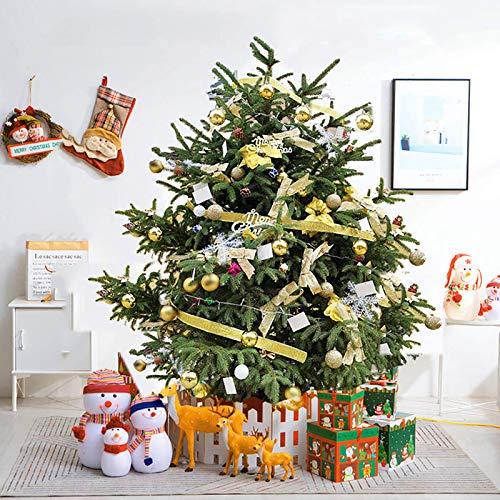 5ft äkta julgran, Premium Gran gångjärn inkluderar stativ med rötter Miljövänligt julgran, för semesterdekoration (julgranpresenter)