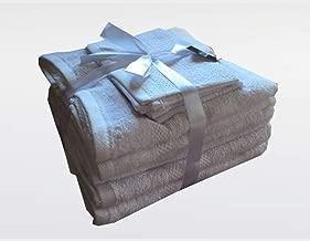 Highliving®, serie di asciugamani da 10 pezzi, in cotone egiziano 500 g/mq White