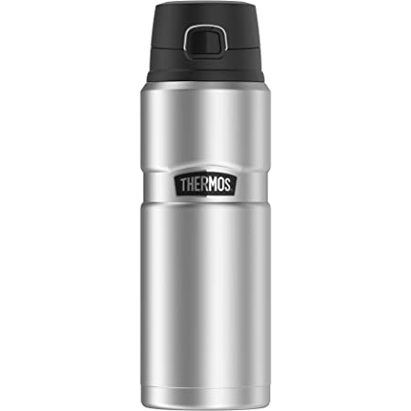THERMOS Stainless King SK4000 Vacuum-Insulated Drink Bottle, 24 Ounce, Stainless Steel