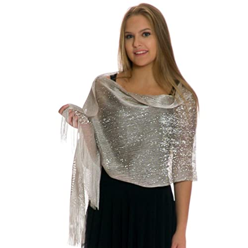 abb8db72352fc Silver Shawl Wrap: Amazon.com