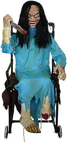buen precio Confettery Decoración de Halloween Horror Horror Horror muñeca en silla de ruedas con luz de sonido de movimiento, 1STK., 120cm, multiColor  solo cómpralo
