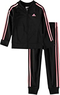 adidas Girls' Tricot Jacket & Jogger Active Clothing Set