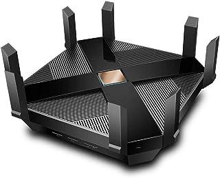 OFAY Router Inalámbrico AX6000-Wifi Router, Tri-Band Gaming Router WiFi, MU-MIMO, Una CPU 1.8 GHz Quad-Core Y 2 Coprocesador