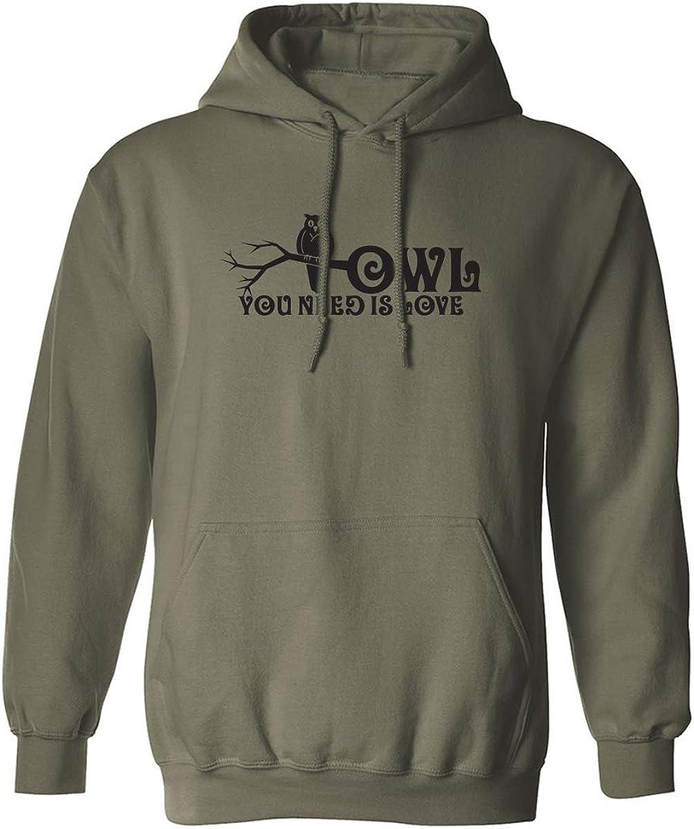 Owl You Need is Love Adult Hooded Sweatshirt