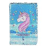 Unicorno Quaderno, Magic Sequin Journal Quaderno arcobaleno Notebook fai da te Magic Journal quotidiano Notebook per Bambini Reversibile Sequin Quaderni e riviste