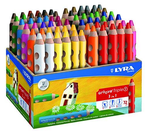 LYRA Groove Triple I Holzaufsteller mit 72 Farbstiften, Sortiert