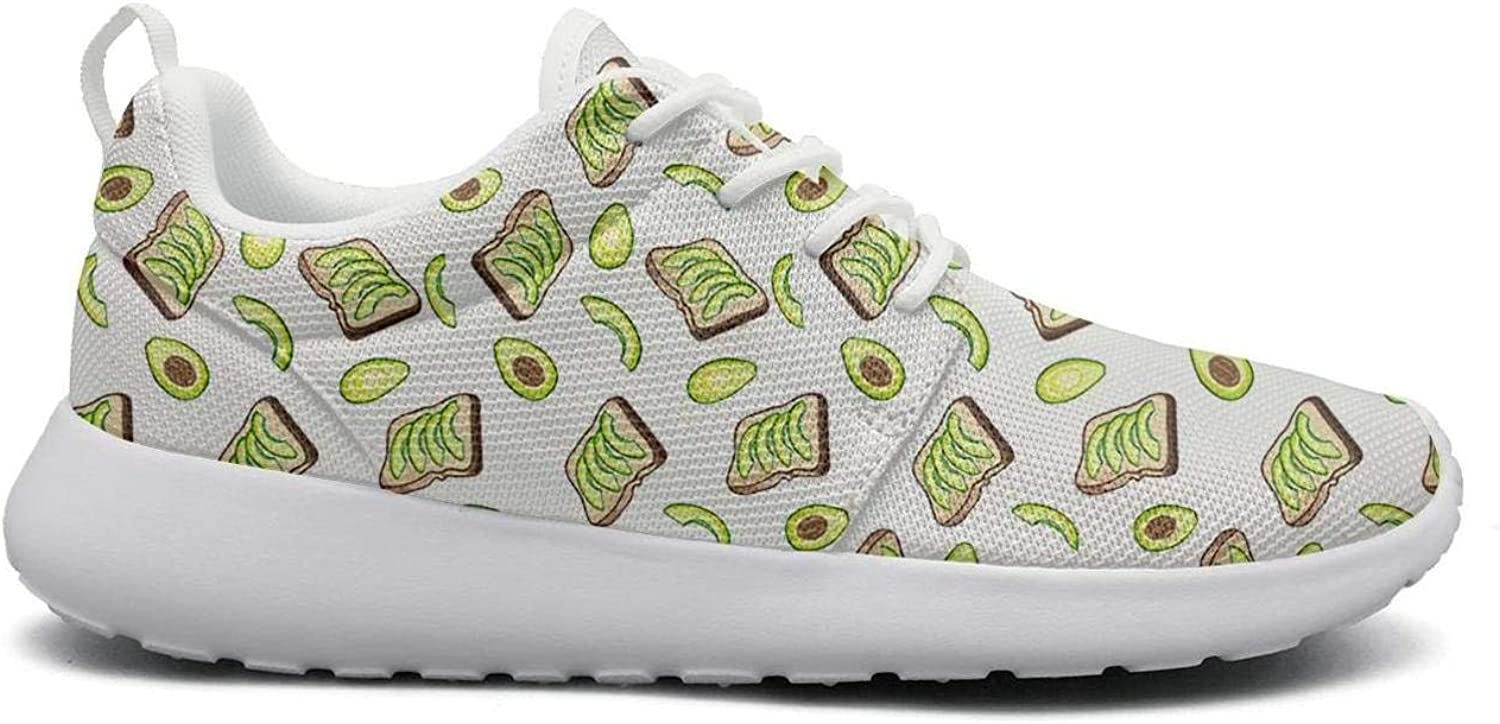 Ktyyuwwww Women's colorful Camping Green Avocado Baby Funny Design Running shoes