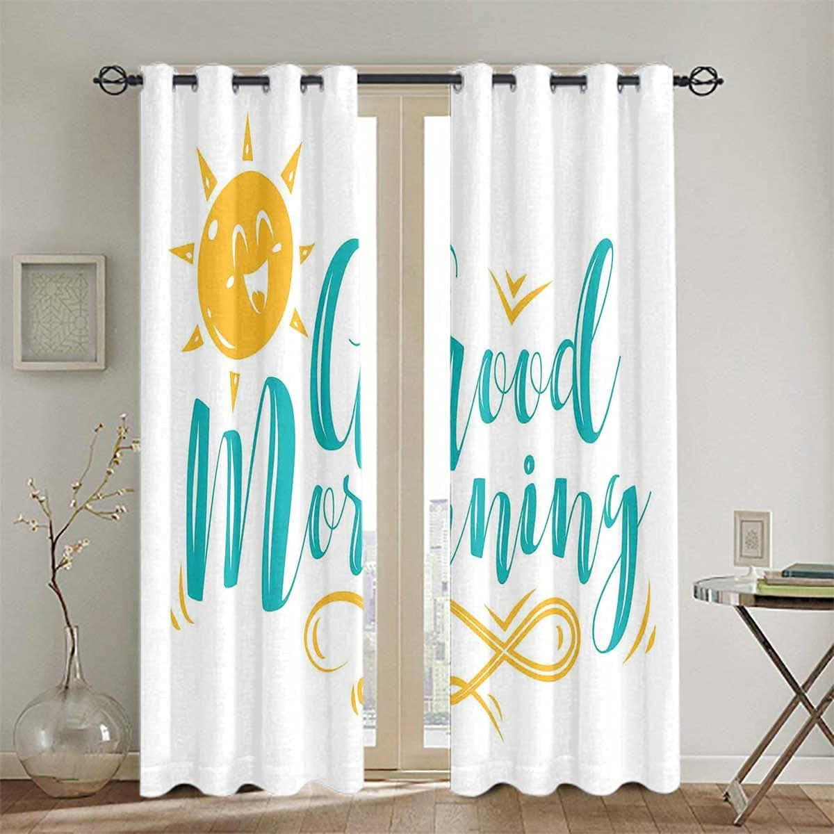 Blackout Curtains Sliding Max 71% OFF Thermal All stores are sold Sun and Smiling Wavy
