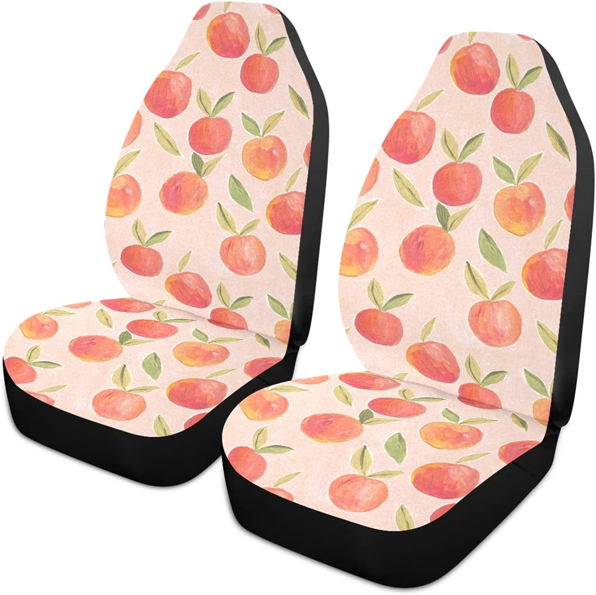 Oarencol Pink Peaches Fruit Car Auto Seat Universal Covers Front Max 62% OFF Free shipping on posting reviews