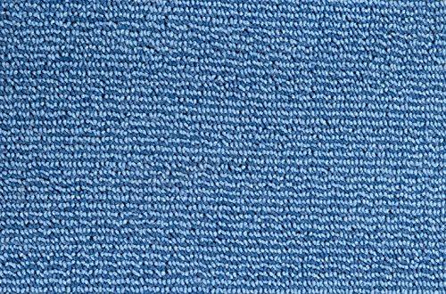 Teppichboden Schlingentextur Kurzflor Auslegware Bodenbelag blau 550 x 400 cm. Weitere Farben und Größen verfügbar