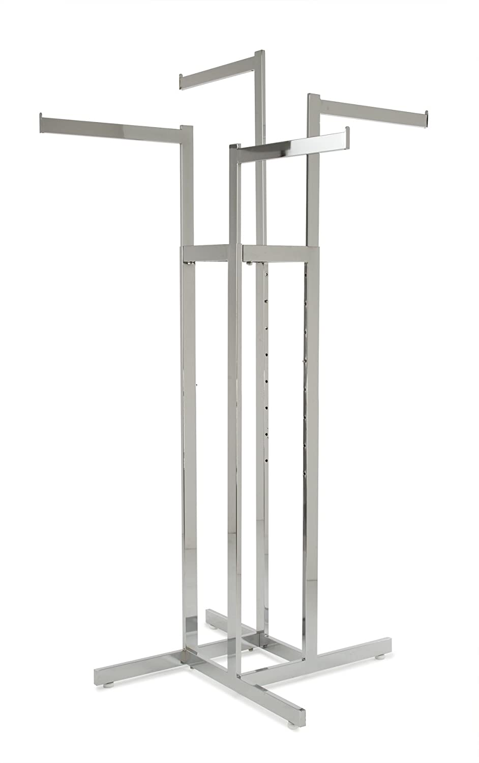 Econoco - Chrome 4-Way Clothing Straight All items in the store Rack Sales Adjustable Height