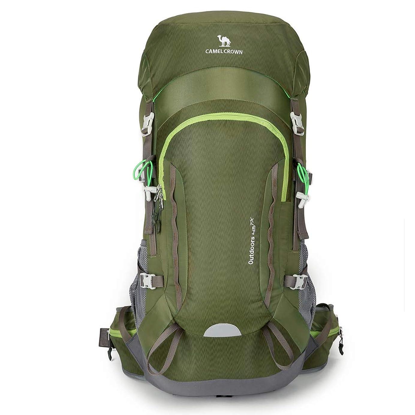 フォーマット反発する帰する登山リュック45L CAMEL ユニセックス 登山バッグ ハイキング バックパック リュックサック 防水 軽量 徒歩 登山 ハイキング キャンプ 旅行用 通気 多機能