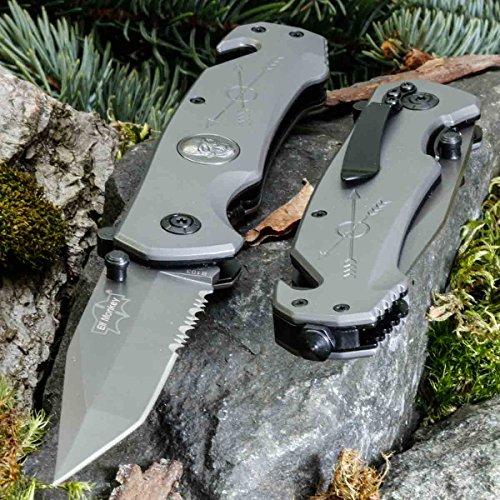 Elf Monkey Sahara P-73 • KLAPPMESSER • EINHANDMESSER TAKTISCHES Messer • Gesamtlänge: 230mm • PTM-de.