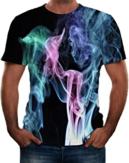 〓Londony〓 Unisex 3D Graphic Print Cool Design Short Sleeve T-Shirts for Men and Women