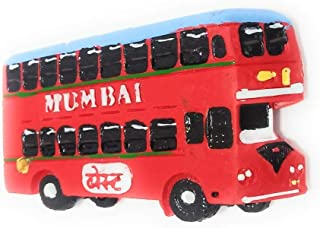 Shiani Handicrafted Mumbai Special Double Decker Bus Resin Fridge Magnet (Red)
