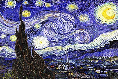 ART REPRODUCTIONS Canvas Interiors - Stampa Artistica su Tela, Motivo: Furgone, Notte Stellata, pronta da Appendere, 76,2 x 50,8 cm