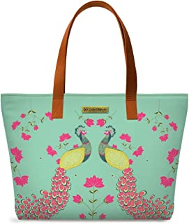 DailyObjects Women's Tote Bag | Spacious, Stylish, Sturdy Handbag with Zip closure (Multicolor)