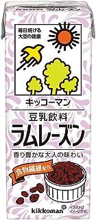 キッコーマン飲料 豆乳飲料ラムレーズン 200ml×18本