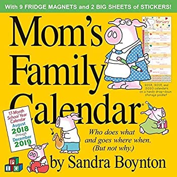 Mom s Family Wall Calendar 2019 [12  x 12  Inches]
