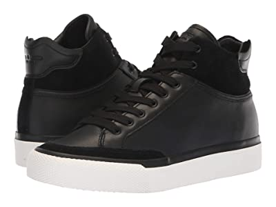 rag & bone RB Army High Sneaker (Black Leather) Women