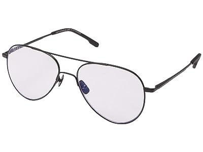 DIFF Eyewear Karter Blue Light (Black) Fashion Sunglasses