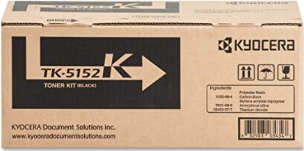 Kyocera 1T02NS0US0 Model TK-5152K Black Toner Kit For use with Kyocera ECOSYS M3040idn, ECOSYS M3540idn and FS-2100DN Color Network Printers; Up to 12000 Pages Yield @ 5% Coverage