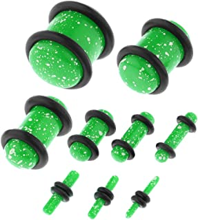 Baosity 18Pcs Punk Acrylic Tunnel Ear Gauge Plugs Expander Stretcher Stretching Kits