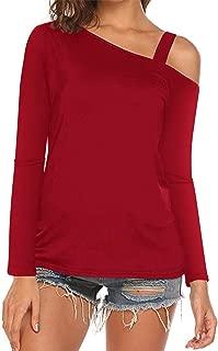 Women's Cold Shoulder T-Shirt Blouse Long Sleeve Casual Tunic Tops Outwear Shirts