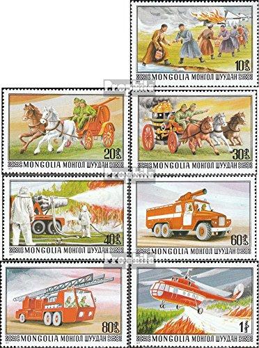 Prophila Collection Mongolei 1091-1097 (kompl.Ausg.) 1977 Geschichte der Feuerwehr (Briefmarken für Sammler) Feuerwehr / Polizei