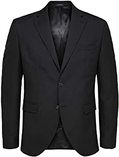 Selected Men's Slhslim-mylohigh Black BLZ B Noos Blazer