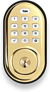 Yale Security Yale Assure Lock Push Button Keypad in Polished Brass (YRD216NR605)