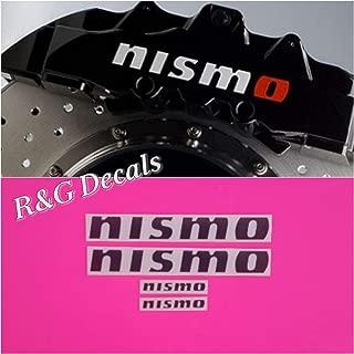 R&G NISMO Brake Caliper HIGH TEMP Decal Sticker Set of 4 Decals (Black Matte)