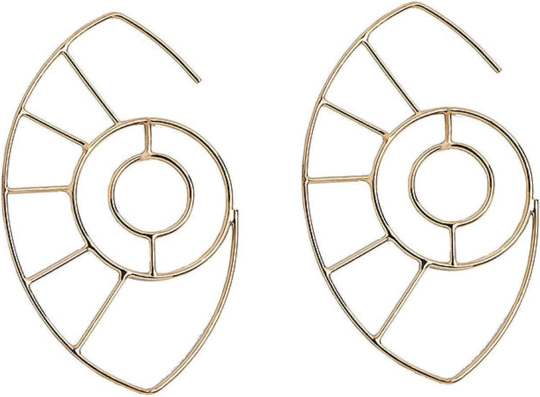 100% quality Finally popular brand warranty Earrings Fashion Beach Geometric Conch Hoop Hollow Earring Metal