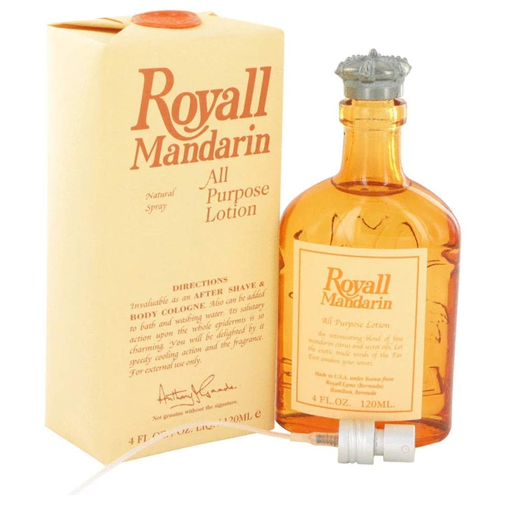 Royal Cheap bargain Fragrances Royall Mandarin Men All Bombing new work Lotion Ounce 4 Purpose