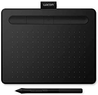 Wacom Intuos S black, Bluetooth Pen tablet - Wireless Graphic Tablet for painting, sketching and photo retouching with 2 f...