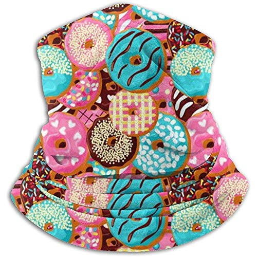 NA Pink Donut Chocolate Pattern Fleece Nackenwärmer - Reversible Neck Vielseitigkeit Ear Warmer Stirnband Maske für Männer und Frauen