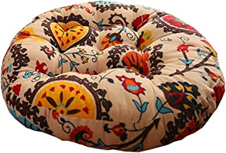 Retro Thicken Cotton Linen Floor Pillow Cushion Futon Round Seat Cushion,A4