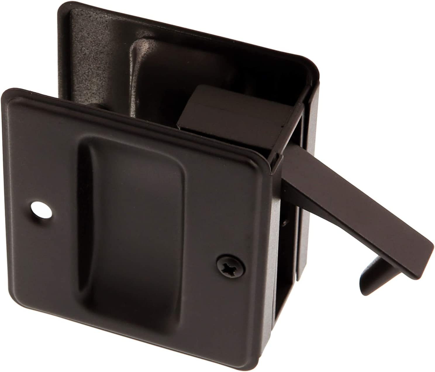 Matte Black Simons 25410-019 Premium Quality Solid Brass Pocket Passage Door Pull idh by St