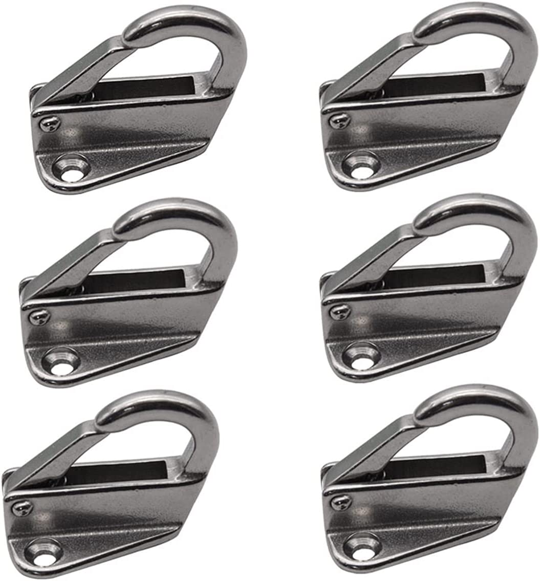Yi-Achieve 6pcs Stainless 1 low-pricing year warranty Steel 316 Locked Spring Fender Sn Hook