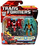 Hasbro Year 2009 Transformers Power Core Combiners Series 4-1/2 Inch Tall Robot Action Figure Set - Decepticon SMOLDER (Vehicle Mode: Fire Truck) with Mini-Con CHOPSTER