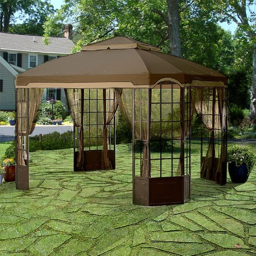 Garden Winds Bay Window Gazebo Replacement Canopy Top Cover - RipLock 500