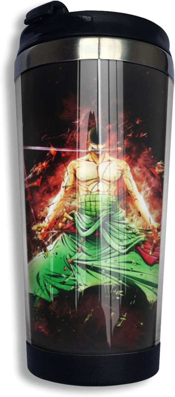 One Piece Samurai Roronoa Zoro Anime Coffee Cup Thermos 3d Print Topics on TV Gorgeous