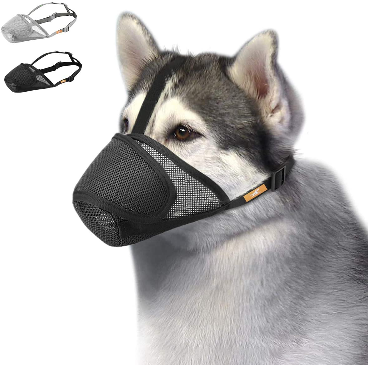 Dog Muzzle Mesh with In a popularity Directly managed store Overhead Strap Mask No Lick Guar Mouth